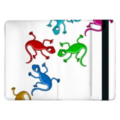 Colorful Lizards Samsung Galaxy Tab Pro 12 2  Flip Case by Valentinaart