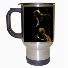 Yellow Lizards Travel Mug (silver Gray) by Valentinaart