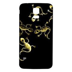 Yellow Lizards Samsung Galaxy S5 Back Case (white) by Valentinaart