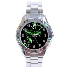 Green Lizards Stainless Steel Analogue Watch