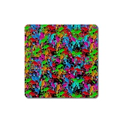 Lizard Pattern Square Magnet by Valentinaart