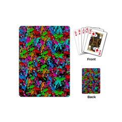 Lizard Pattern Playing Cards (mini)  by Valentinaart