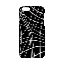 Black And White Warped Lines Apple Iphone 6/6s Hardshell Case