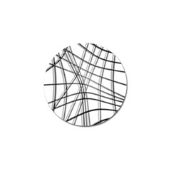 White And Black Warped Lines Golf Ball Marker (4 Pack) by Valentinaart