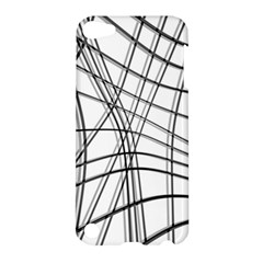 White And Black Warped Lines Apple Ipod Touch 5 Hardshell Case by Valentinaart