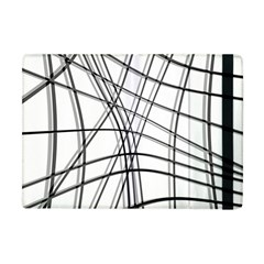 White And Black Warped Lines Apple Ipad Mini Flip Case by Valentinaart