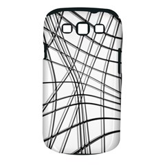 White And Black Warped Lines Samsung Galaxy S Iii Classic Hardshell Case (pc+silicone) by Valentinaart