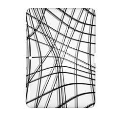 White And Black Warped Lines Samsung Galaxy Tab 2 (10 1 ) P5100 Hardshell Case