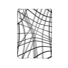 White And Black Warped Lines Ipad Mini 2 Hardshell Cases by Valentinaart