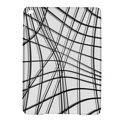 White And Black Warped Lines Ipad Air 2 Hardshell Cases