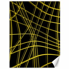 Yellow Abstract Warped Lines Canvas 36  X 48   by Valentinaart