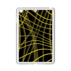 Yellow Abstract Warped Lines Ipad Mini 2 Enamel Coated Cases by Valentinaart