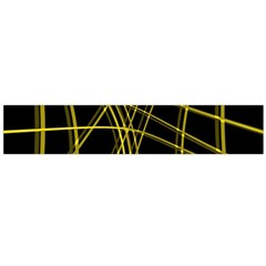 Yellow Abstract Warped Lines Flano Scarf (large) by Valentinaart
