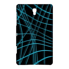 Cyan And Black Warped Lines Samsung Galaxy Tab S (8 4 ) Hardshell Case  by Valentinaart