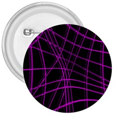 Purple And Black Warped Lines 3  Buttons