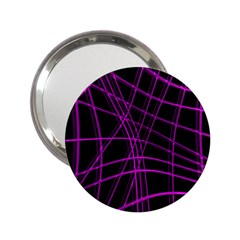 Purple And Black Warped Lines 2 25  Handbag Mirrors by Valentinaart