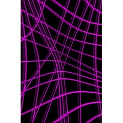 Purple And Black Warped Lines 5 5  X 8 5  Notebooks by Valentinaart