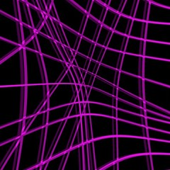 Purple And Black Warped Lines Magic Photo Cubes by Valentinaart