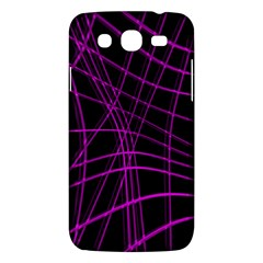 Purple And Black Warped Lines Samsung Galaxy Mega 5 8 I9152 Hardshell Case  by Valentinaart