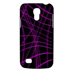 Purple And Black Warped Lines Galaxy S4 Mini by Valentinaart