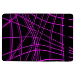 Purple And Black Warped Lines Ipad Air 2 Flip by Valentinaart