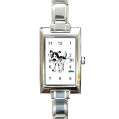 My Cute Dog Rectangle Italian Charm Watch by Valentinaart