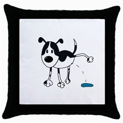 My Cute Dog Throw Pillow Case (black) by Valentinaart