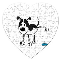 My Cute Dog Jigsaw Puzzle (heart) by Valentinaart