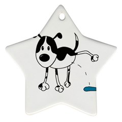 My Cute Dog Star Ornament (two Sides)  by Valentinaart
