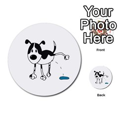 My Cute Dog Multi Purpose Cards (round)  by Valentinaart