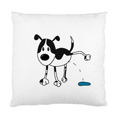 My Cute Dog Standard Cushion Case (two Sides) by Valentinaart