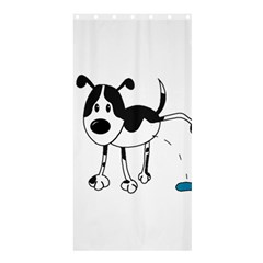 My Cute Dog Shower Curtain 36  X 72  (stall)  by Valentinaart
