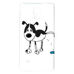 My Cute Dog Galaxy Note 4 Back Case by Valentinaart