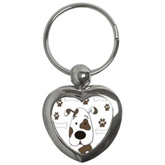 Cute Dog Key Chains (heart)  by Valentinaart