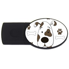 Cute Dog Usb Flash Drive Oval (2 Gb)  by Valentinaart