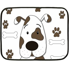 Cute Dog Double Sided Fleece Blanket (mini)  by Valentinaart