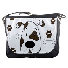 Cute Dog Messenger Bags by Valentinaart