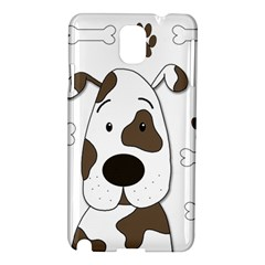 Cute Dog Samsung Galaxy Note 3 N9005 Hardshell Case by Valentinaart