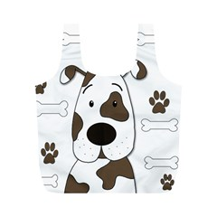 Cute Dog Full Print Recycle Bags (m)  by Valentinaart