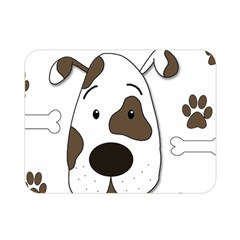 Cute Dog Double Sided Flano Blanket (mini)  by Valentinaart