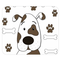 Cute Dog Double Sided Flano Blanket (small)  by Valentinaart