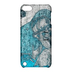 Mother Mary And Infant Jesus Christ  Blue Portrait Old Vintage Drawing Apple Ipod Touch 5 Hardshell Case With Stand by yoursparklingshop