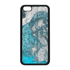 Mother Mary And Infant Jesus Christ  Blue Portrait Old Vintage Drawing Apple Iphone 5c Seamless Case (black) by yoursparklingshop