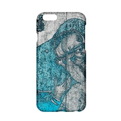 Mother Mary And Infant Jesus Christ  Blue Portrait Old Vintage Drawing Apple Iphone 6/6s Hardshell Case by yoursparklingshop