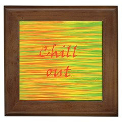 Chill Out Framed Tiles by Valentinaart