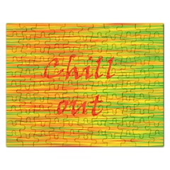 Chill Out Rectangular Jigsaw Puzzl by Valentinaart