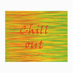 Chill Out Small Glasses Cloth by Valentinaart