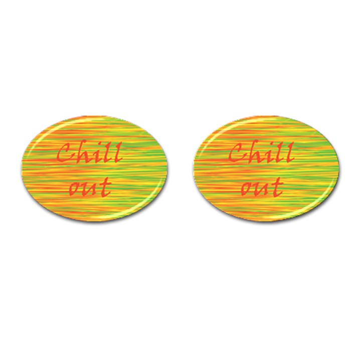 Chill out Cufflinks (Oval)