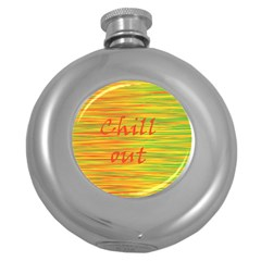 Chill Out Round Hip Flask (5 Oz) by Valentinaart