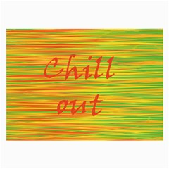Chill Out Large Glasses Cloth by Valentinaart